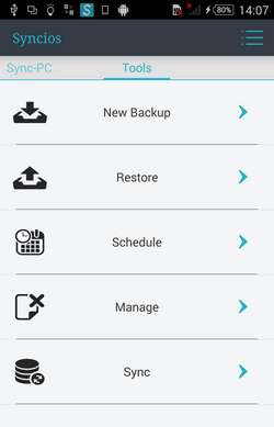Backup android to dropbox
