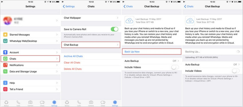backup iphone whatsapp with whatsapp icloud