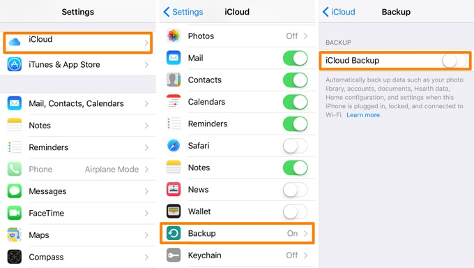 backup iPhone 12 whatsapp with icloud backup