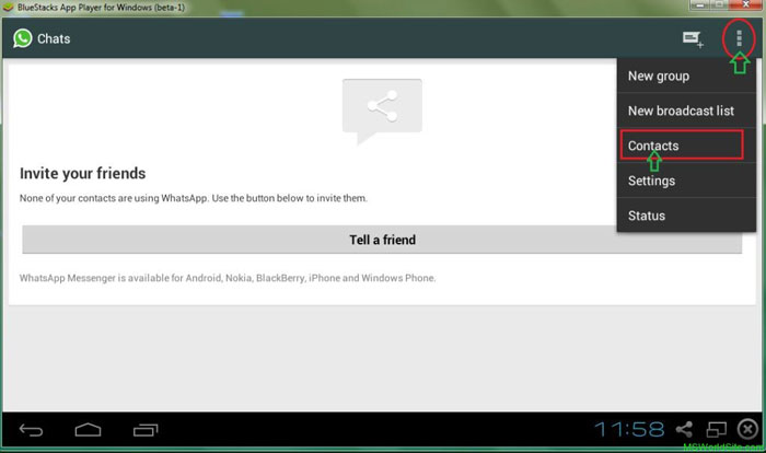 use whatsapp on Pc with Bluestacks android emulator