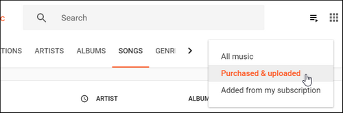 Check Uploads on Google Play Music