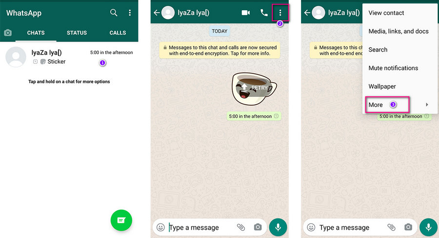choose whatsapp messages to export