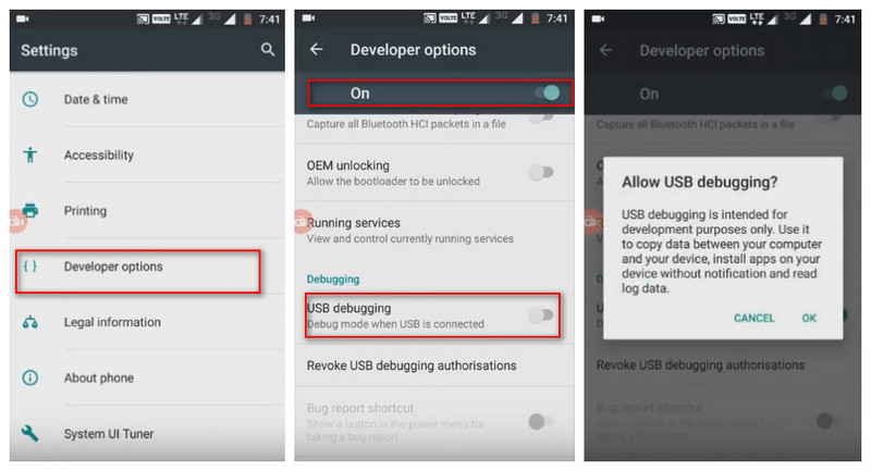 Enbale USB Debugging Mode on Motorola Moto M