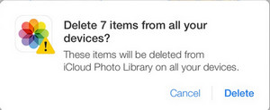 delete items synced from icloud