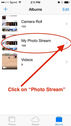 delete photos from iCloud photo stream