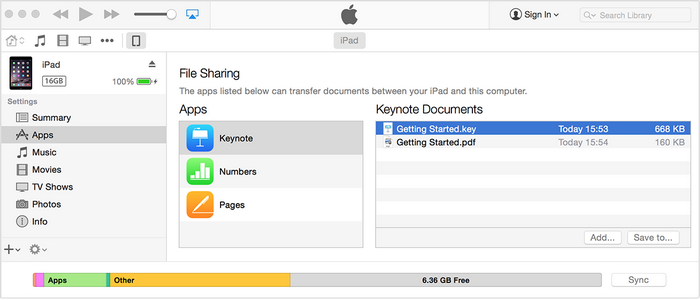 Delete iPhone/iPad/iPod Touch Documents in iTunes