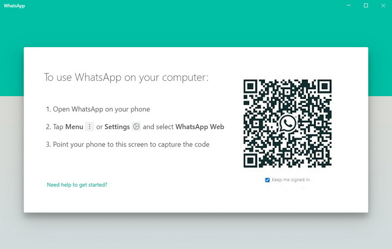 start whatsapp on computer