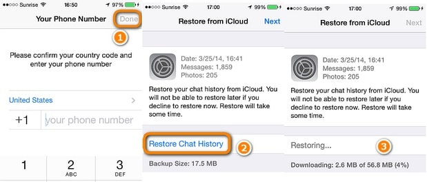 restore whatsapp messages to iphone se 2020 from whatsapp icloud backup