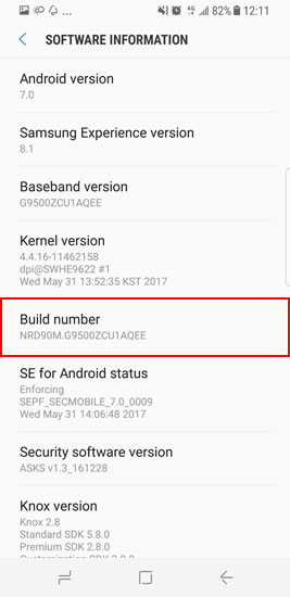debug samsung galaxy s8 step3