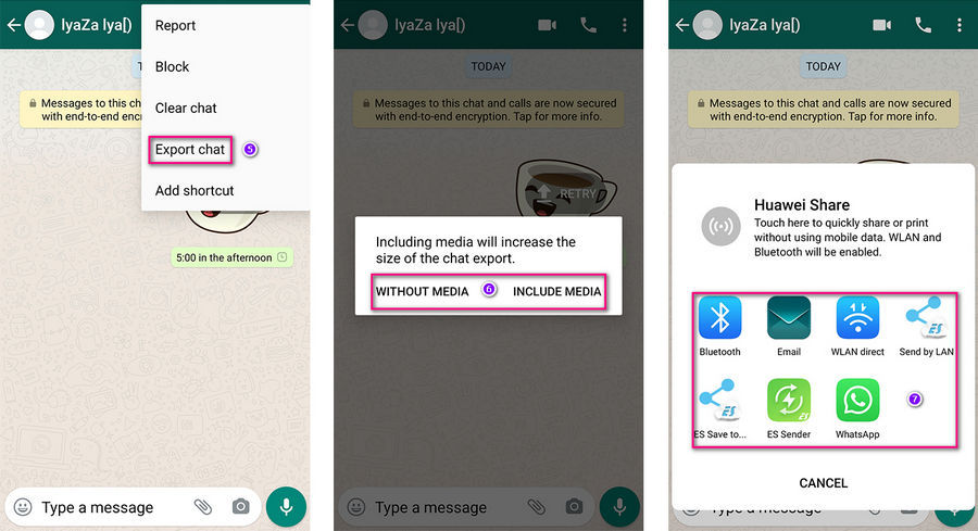 export whatsapp messages to iPhone 12