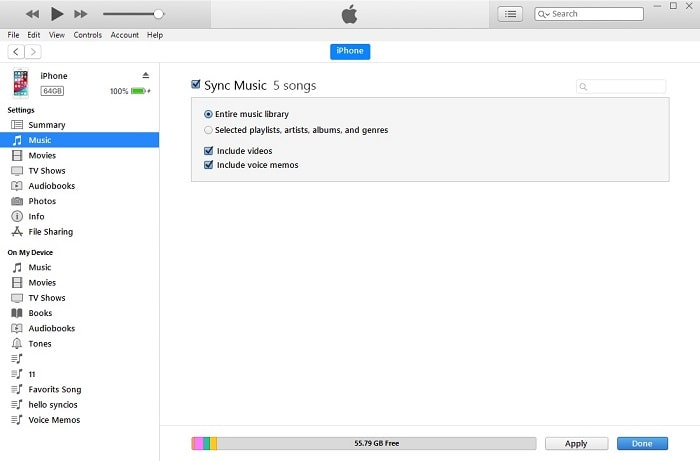 sync voice memos to itunes library