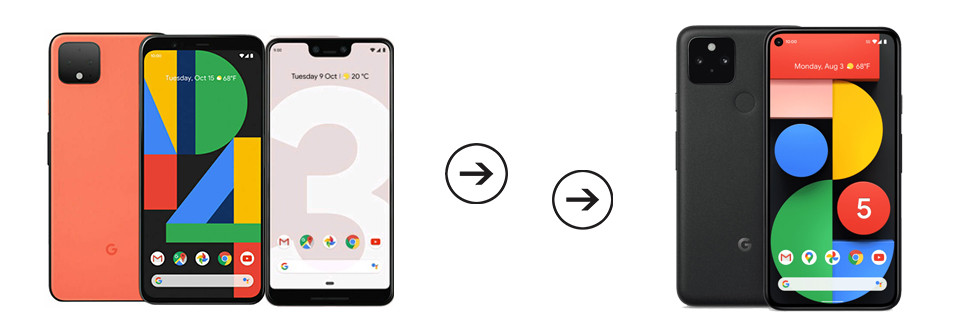 transfer data from Google Pixel 2/3/4 to Google Pixel 5