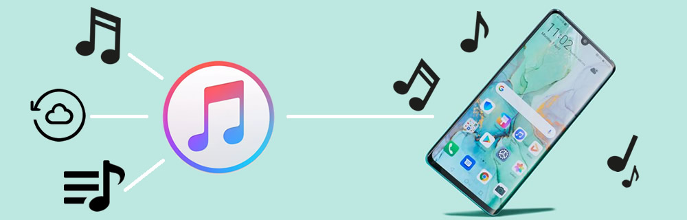 transfer itunes library music to huawei p30