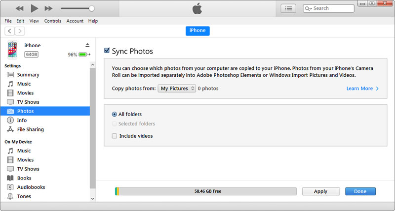 use itunes to backup iphone 11 photos to computer