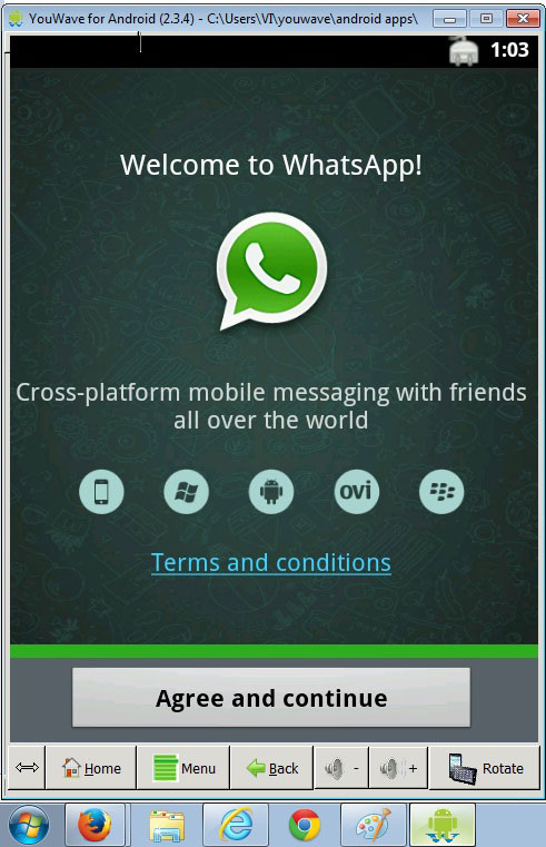 use whatsapp on PC with YouWave android emulator