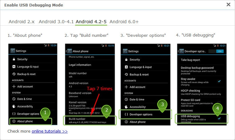 enable usb debugging on android 6.0 or above