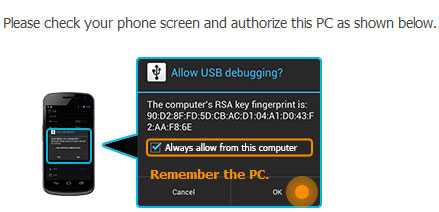 authorize on device