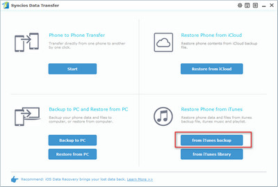 recover data from iTunes to note 9