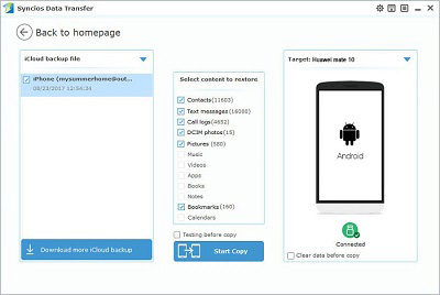 Transfer Contacts, Messages, Photos from iCloud to Android ...