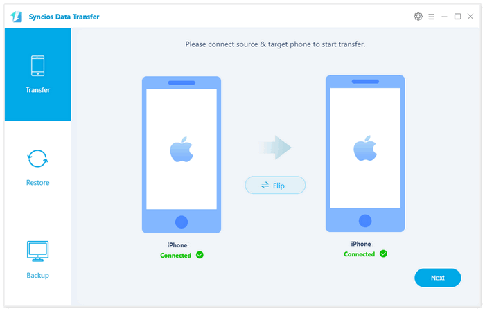 one-click iphone to iphone tranfer