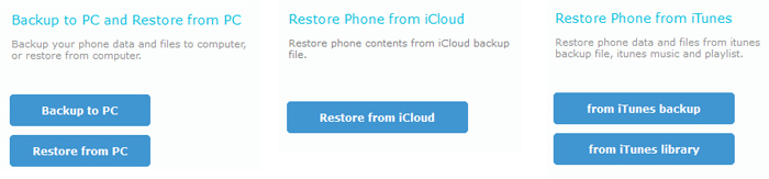restore iTunes and iCloud backup to iPhone 8