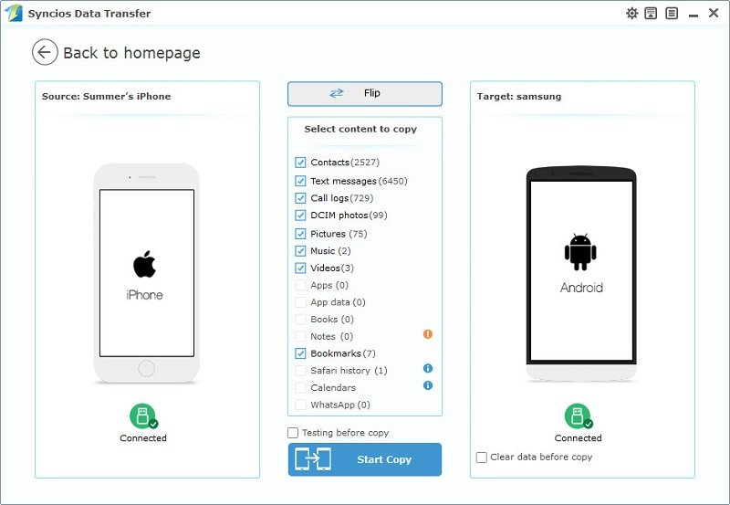 Transfer All Data From Android To Iphone