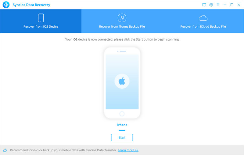 Directly scan and retrieve data from iOS Devices