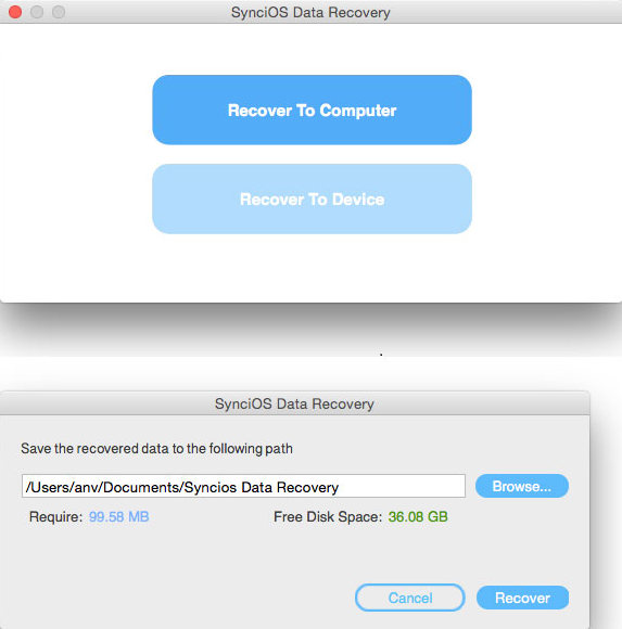 retrieve data from iCloud backup file
