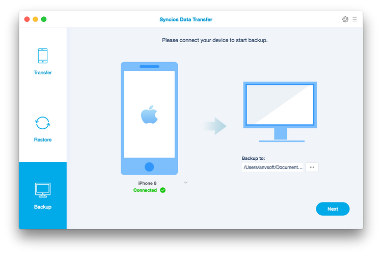 Transfer data from iPhone to Mac