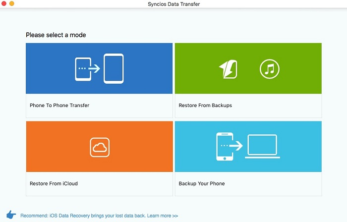 Syncios Samsung Data Transfer Homepage