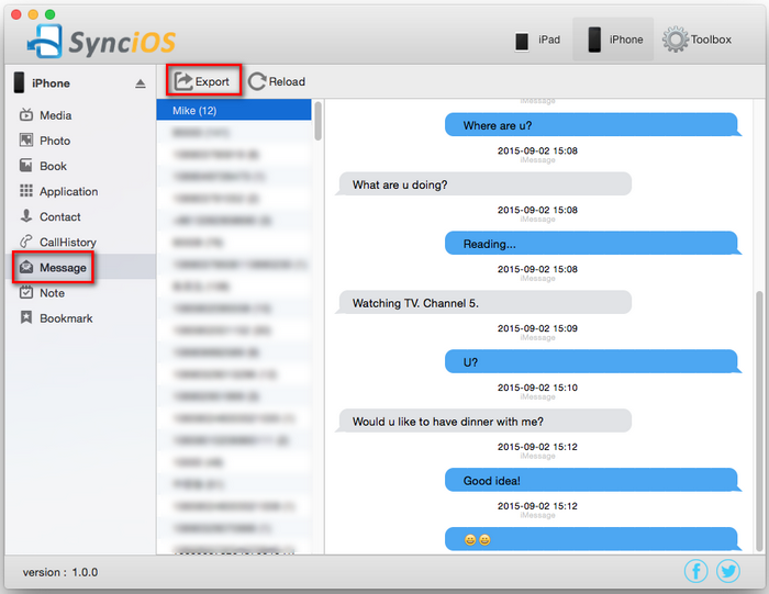 Backup iPhone Message to Mac for Free