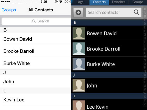 Copy iPhone Contacts to Samsung