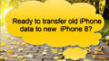 Transfer Data from iPhone 4/5/6/7 to iPhone 8
