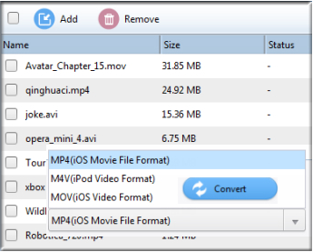 Convert video or audio files for iPhone, iPoad, iPod